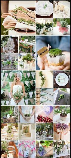 Classy Green Herbs Wedding