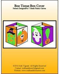 Boo Tissue Box Cover
