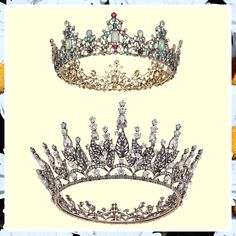 SWEETV Baroque Queen Crowns - Rhinestone Wedding Crowns and Tiaras for Women, Costume Party Hair Accessories with Gemstones (This is an affiliate pin) #haircare