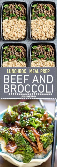 This Skinny Beef and Broccoli Stir-Fry makes the perfect easy weeknight dish full of authentic flavors. Best of all it's so easy to make with authentic flavors and way better than your favorite Chinese takeout restaurant. Great for Sunday meal prep and l Best Meal Prep, Sunday Meal Prep, Meal Prep For Work, Easy Lunch Meal Prep, Meal Prep For The Week For Beginners, Weekly Meal Prep Healthy, Work Meals, Easy Meals, Work Lunches