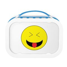 Kids will love this Emoji Lunchbox Set! Includes large (sandwich) container, two small containers, and ice pack. Choose from six color options. Back of faceplate can also be personalized.