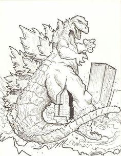Godzilla, : Godzilla Coloring Pages | LineArt: Godzilla ...