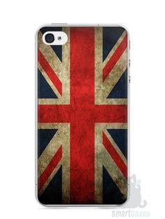 Capa Iphone 4/S Bandeira da Inglaterra - SmartCases - Acessórios para celulares e tablets :)