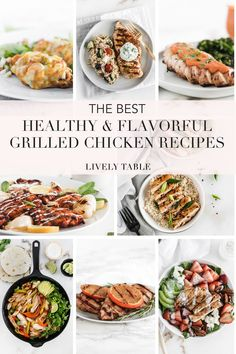 If you are tired of making the same old boring grilled chicken breast, try one of these healthy grilled chicken recipes! From Asian to Tex-Mex, you'll find a new and delicious meal to add to your rotation. #chickenrecipes #grilledchicken #grillingrecipes #weeknightdinners #grilleddinners #healthygrilledchicken #healthygrilledrecipes #healthychickenrecipes #chickenbreastrecipes #glutenfreechickenrecipes #dinnerinspo #healthymealideas #easychickenrecipes #easychickendinners #chickenthighs Healthy Grilled Chicken Recipes, Grilled Chicken Fajitas, Healthy Chicken Recipes, Pork Recipes, Whole Food Recipes, Feel Good Food, Healthy Grilling, Yum Yum Chicken, Tex Mex