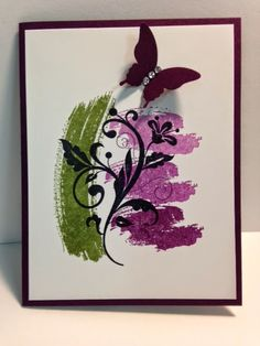 Work of Ar, Flowering Flourishes, Stampin' Up! Rubber Stamping, Handmade Cards, Stamp Camp Card, Quick Cards