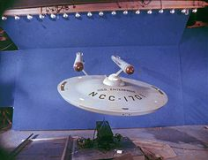 Mid Distance Shot of Enterprise Model in Studio at the time of the first episodes.