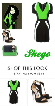 """""""Kim Possible"""" by mrsstylik1999 ❤ liked on Polyvore featuring Versace"""