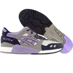 on sale 4882c c7b7e Asics Womens Gel-Lyte III (grey   lavender) HN588-1124 -  79.99