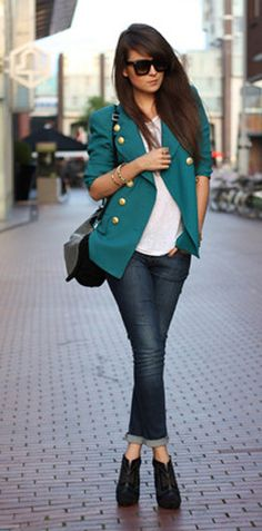 Chic with a pop of color.