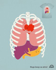 haha I need to wear this to my next class!  They just forgot the kidneys, pancreas and gallbladder within the thorax :)
