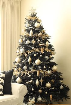 Gold and Silver Christmas Tree.