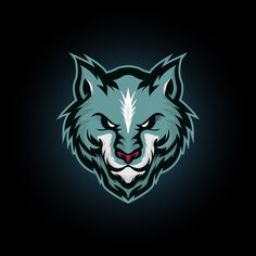 Vector illustration blue wolf head mascot logo icon suitable for e sports logo or t shirt illustration and badge Template Corporate Logo Design, Minimal Logo Design, Badge Template, Logo Design Template, Logo Lobo, Kreis Logo Design, Wolf Silhouette, Drop Logo, Butterfly Logo