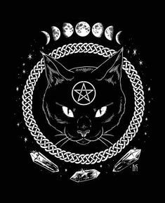 Magickal Protection - Unisex/Men T-shirt – Cat Coven Cat Moon, Arte Obscura, Witch Art, Witch Aesthetic, Pentacle, Triquetra, Book Of Shadows, Black Magic, Dark Art
