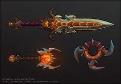 Cataclysm - Weapons - Art of Kelvin Tan