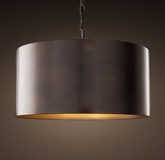 Antiqued Metal Drum Pendant - would be awesome in our dining room.