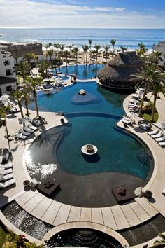 Swimming Pools with an Ocean View at the Cabo Azul in San Jose Del Cabo, Mexico