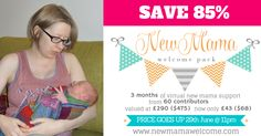 Grab 3 months of virtual New Mama support at 85% off until 29th June! http://newmamawelcome.com?utm_content=buffere980f&utm_medium=social&utm_source=pinterest.com&utm_campaign=buffer