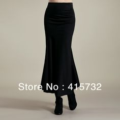 Free Shipping 2013 New Fish Tail Long Maxi Skirt For Women Fashion Black Mermaid Style Skirts OL Plus Size Red Formal Skirts