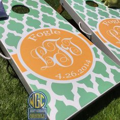 Custom Moroccan Lattice Personalized Cornhole Board by WGCornhole, $215.00