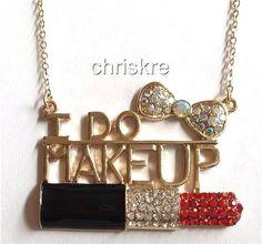 Gold Plated Necklace I Do Makeup Artist Mary Kay Cosmetology Graduation Gift USA #FRESH #Pendant
