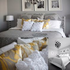 Gray and Yellow Room