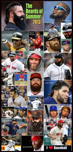 Facial Hair is IN, more than ever for our MLB Players this year. Some new and some old. Some scruffy and some not so bad!