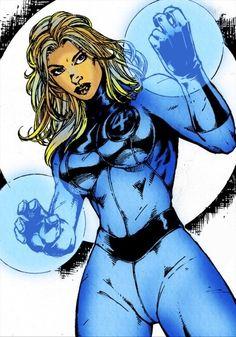 Invisible Woman by Marcio Abreu Comic Book Heroines, Comic Book Characters, Marvel Characters, Comic Character, Comic Books Art, Female Characters, Comic Art, Fantastic Four, Mister Fantastic