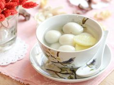 Sweet Red Bean Rice Cake Soup