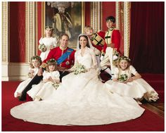 Formal Wedding pictures of Princess Kate and Prince William. I love all the kids! Looks like a snapshot of their future!