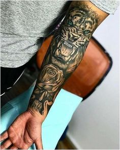 Amazing Lion Tattoo ideas for men tattoos for More Tattoo Id. - Amazing Lion Tattoo ideas for men – tattoos More Tattoo ideas you can find on our Websit - Dope Tattoos, Forarm Tattoos, Forearm Sleeve Tattoos, Best Sleeve Tattoos, Badass Tattoos, Tattoo Sleeve Designs, Body Art Tattoos, Hand Tattoos, Tiger Forearm Tattoo