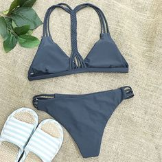 cupshe black bikini