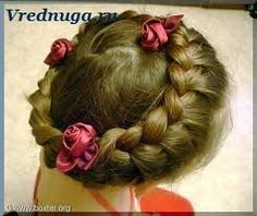 Колоски и косы - прически для девочек на праздник  #little #girl #hairstyle