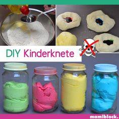 DIY plasticine nontoxic mamiblock DIY Crafts is part of Infant activities - [ad Did you ever notice the severe chemical smell of clay What is in there, is not at all really Toddler Learning Activities, Infant Activities, Pot Mason Diy, Mason Jars, Diy Projects To Try, Diy Crafts For Kids, Diy Bebe, Plasticine, Baby Sensory