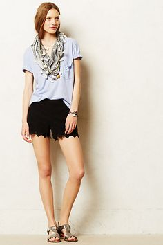 Fashion: Scalloped Lace Shorts