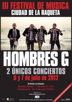 Próximo #concierto d #hombresg en  Madrid @ciudadraqueta 6 y 7 de #julio 2012 entradas ya a la venta en www.marcaentradas @marca #Madrid #Spain #music