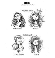 C. Cassandra comics :: Hair Expectations vs Reality | Tapastic Comics - image 1