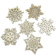 These large wooden snowflakes are perfect for this Let it Snow sign!
