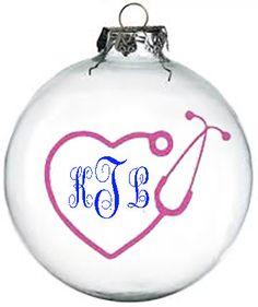 Personalized nurse Christmas ornament by KikisKornerSC on Etsy, $10.00