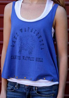 Lake Wapakoneta Camp for Wayward Girls, Crop Tank by Original Cowgirl Clothing Company