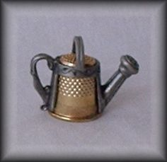 Vintage Signed Nicholas Gish Watering Can Thimble