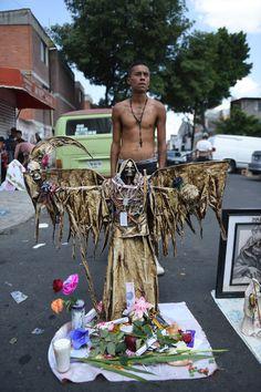 """Mexicans show devotion to a fast-rising """"saint"""": Santa Muerte or Saint Death."""