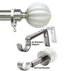Satin Silver Curtain Pole set from Italia Bianco Poles range. Suitable for light to heavy weight curtains and straight runs. Contemporary Glass, Curtain Poles, Hand Blown, Curtains, Glass Finial, Heavy Weight Curtains, Extra Long Curtains, Silver Curtains, Curtain Hooks