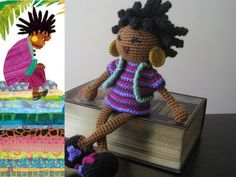 Crochet African Princess and the Pea Doll Plush by LeenGreenBean, $50.00
