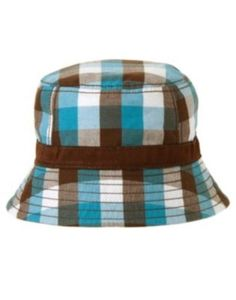 9b0d808f77c  5.59 - Gymboree Little Surfer Dude Plaid Bucket Hat 0 3 6 12 18 24 Nwt