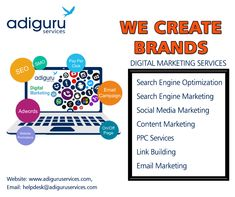 Are you looking for best digital marketing services? Adiguru services offers you the best and cost-effective digital marketing services for any kind of online business needs. Contact us today. Online Marketing Services, Email Marketing Campaign, Social Media Services, Seo Services, Content Marketing, Social Media Marketing, Seo Sem, Search Engine Marketing, Online Business