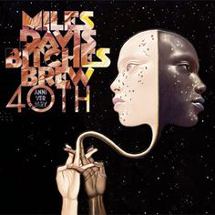 Miles Davis album cover art for the 40th anniversary release of Bitches Brew