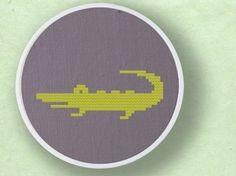 Cute Crocodile. Cross Stitch PDF Pattern by andwabisabi on Etsy, $2.50