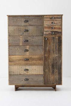 Anthropologie - Eiko Cabinet- i love the worn wood look.