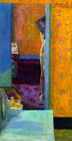 Pierre Bonnard, Nu dans un intérieur, c. 1935, oil on canvas, 134 x 69.2 cm (52 3/4 x 27 1/4 in.)
