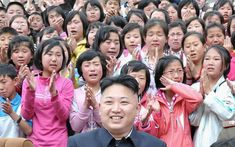 Children are reduced to tears at the sight of their leader during his visit the Pyongyang Myohyangsan Children's Camp. (Looking back at some of the bizarre and strange photos released by the state-run KCNA news agency).